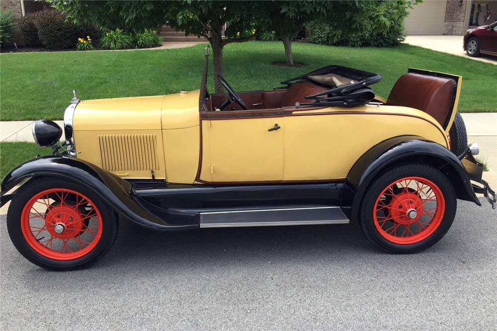1929 FORD MODEL A RUMBLE SEAT ROADSTER - Side Profile - 185865