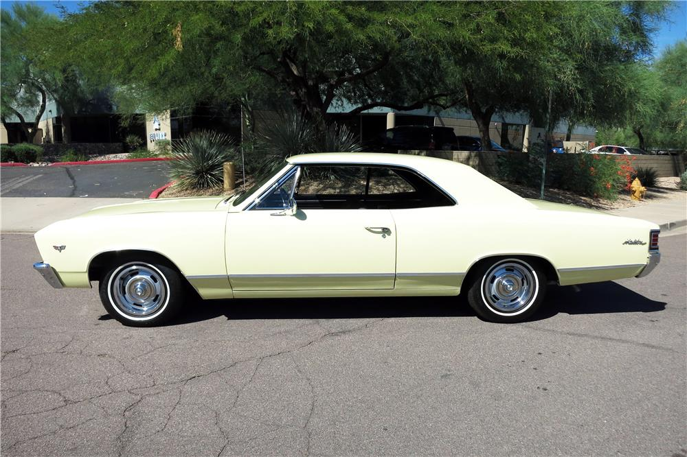 1967 CHEVROLET MALIBU  - Side Profile - 185874