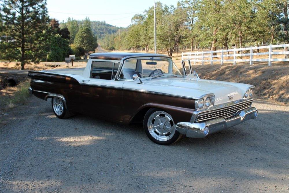 1959 FORD RANCHERO CUSTOM PICKUP - Front 3/4 - 185879