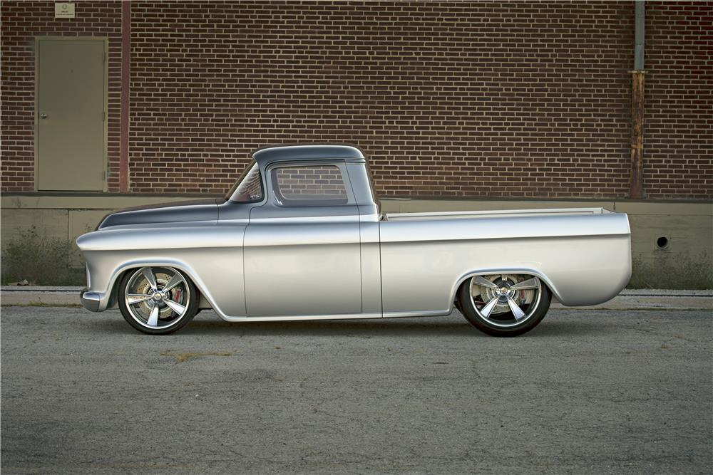 "1957 CHEVROLET CUSTOM TRUCK ""QUIKSILVER"" - Side Profile - 185887"