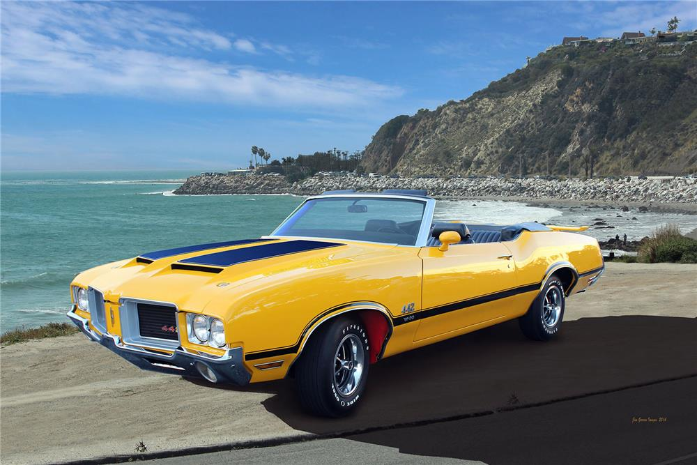 1971 OLDSMOBILE 442 W30 CONVERTIBLE - Front 3/4 - 185890