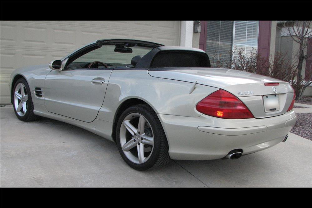 2003 MERCEDES-BENZ SL500 ROADSTER - Rear 3/4 - 185909