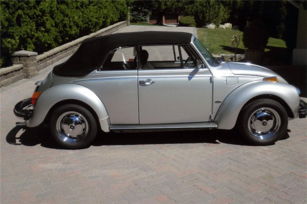 1979 VOLKSWAGEN BEETLE CONVERTIBLE - Side Profile - 185923