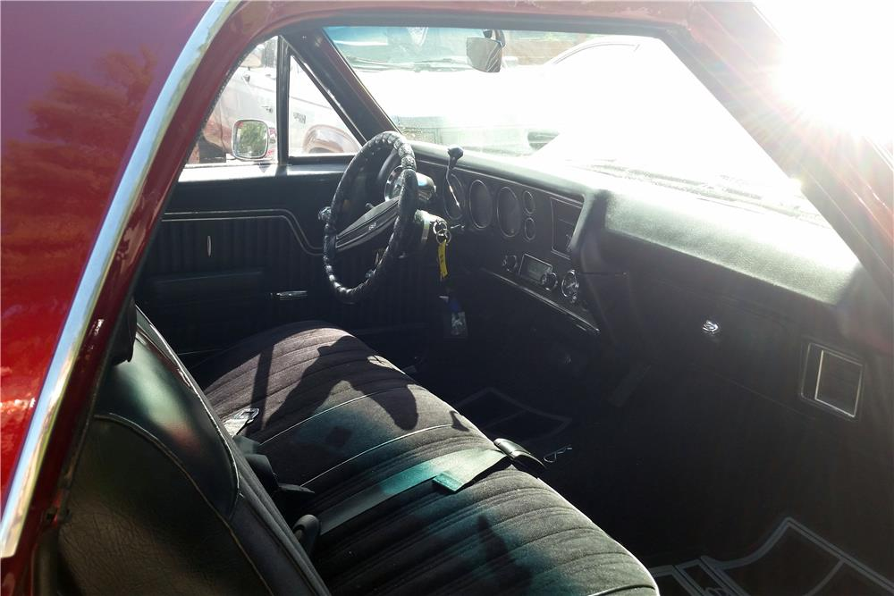 1971 CHEVROLET EL CAMINO PICKUP - Interior - 186107