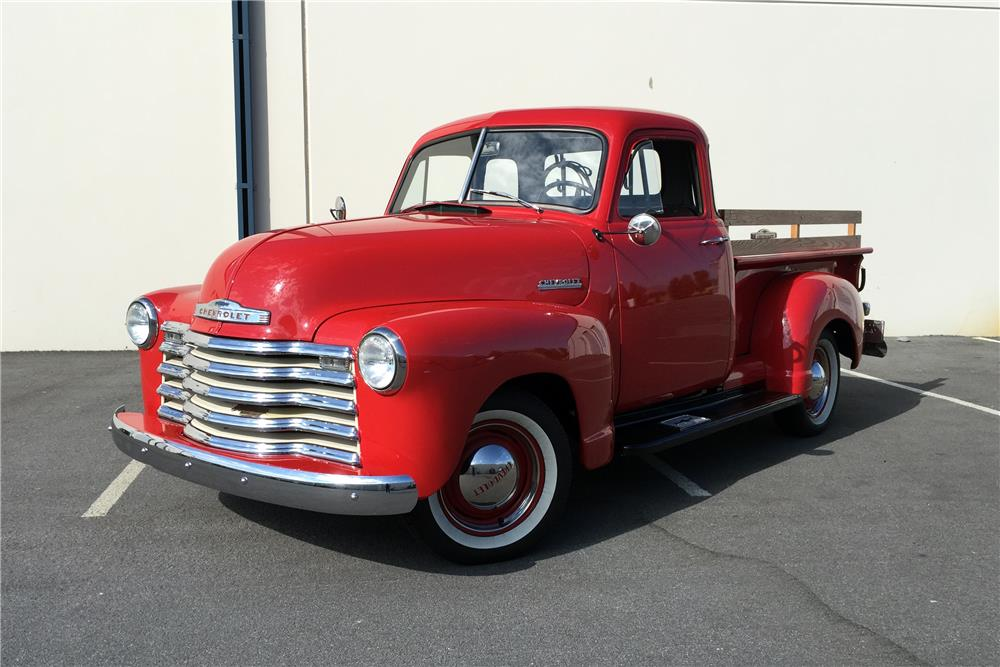 1952 CHEVROLET 3100 PICKUP - Front 3/4 - 186349