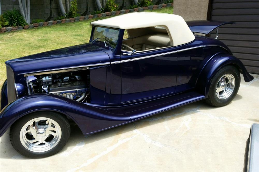 1934 CHEVROLET CUSTOM CONVERTIBLE - Front 3/4 - 186477