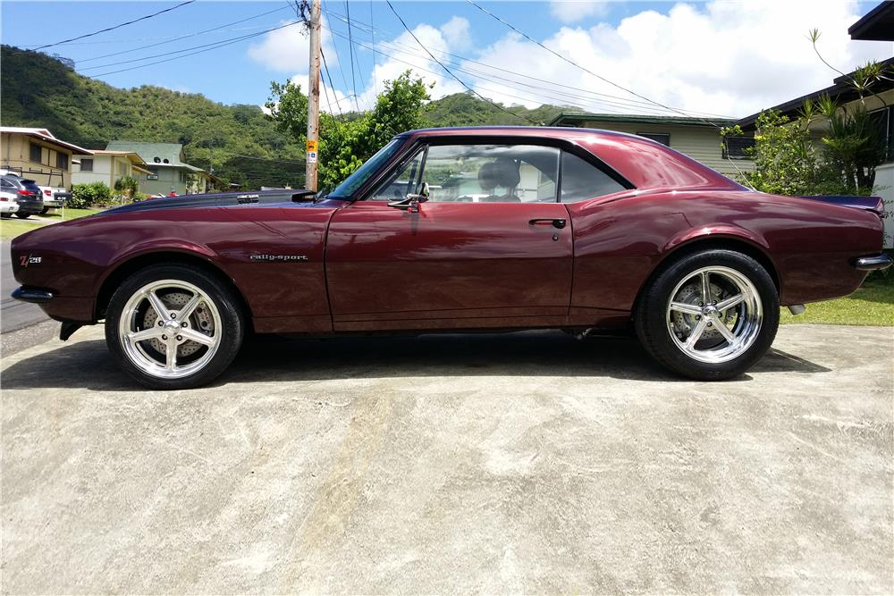 1967 CHEVROLET CAMARO CUSTOM COUPE - Side Profile - 186819