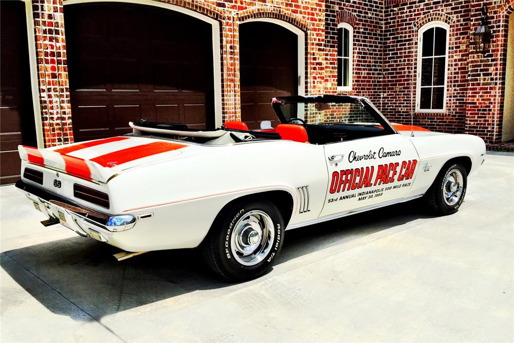 1969 CHEVROLET CAMARO RS/SS INDY PACE CAR CONVERTIBLE - Rear 3/4 - 186837