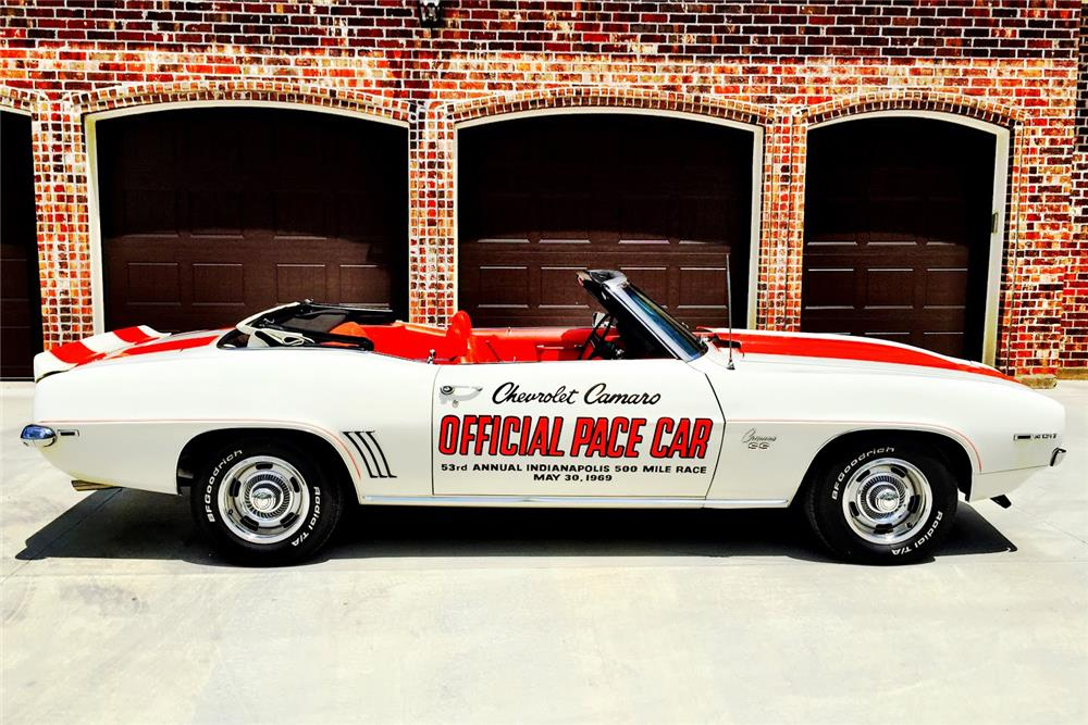 1969 CHEVROLET CAMARO RS/SS INDY PACE CAR CONVERTIBLE - Side Profile - 186837