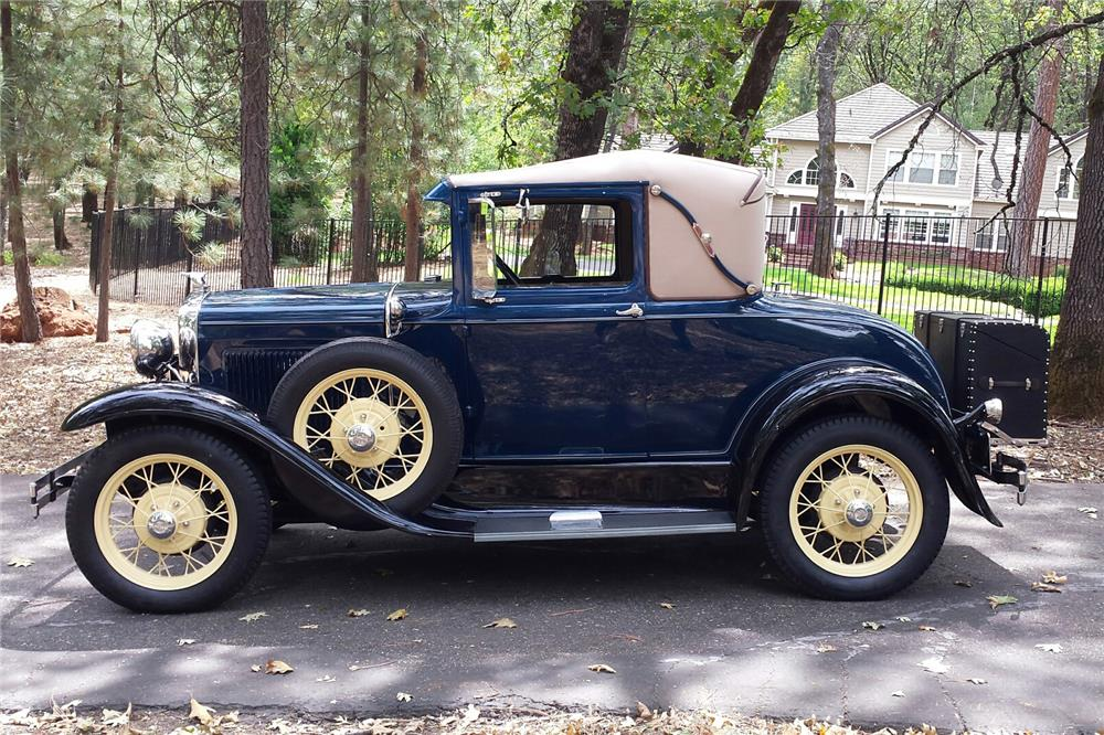 1931 FORD MODEL A SPORT COUPE - Side Profile - 186846
