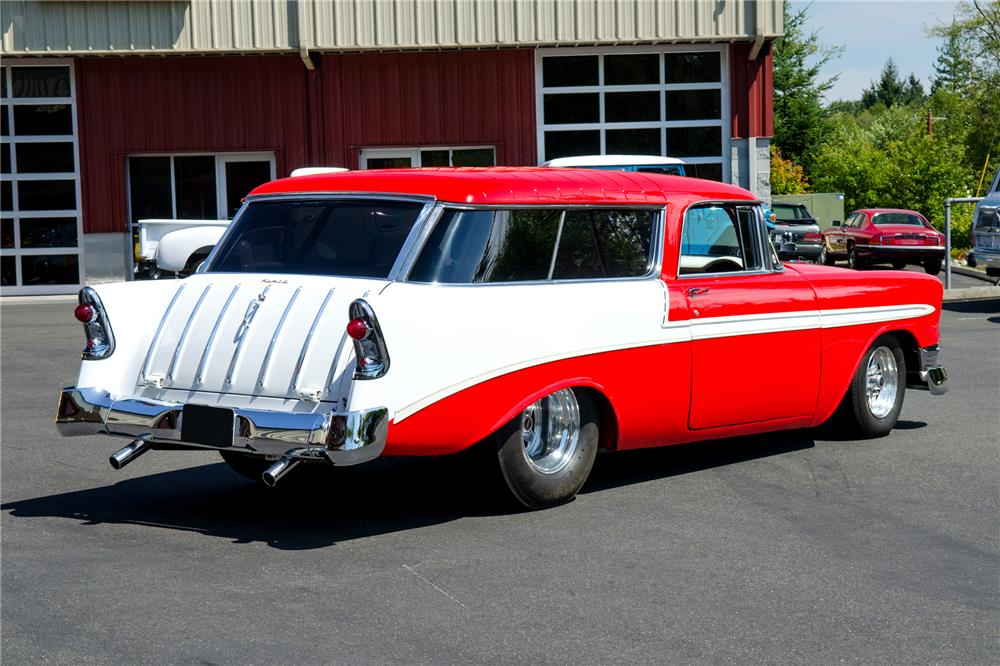 1956 CHEVROLET NOMAD CUSTOM WAGON - Rear 3/4 - 186853