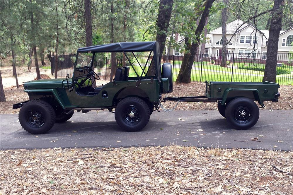 1951 JEEP WILLYS CONVERTIBLE - Side Profile - 186859