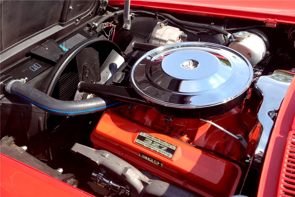 1963 CHEVROLET CORVETTE 327/300 CONVERTIBLE - Engine - 186861