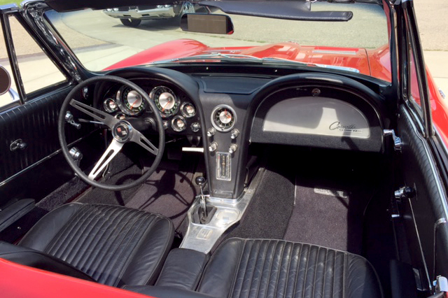 1963 CHEVROLET CORVETTE 327/300 CONVERTIBLE - Interior - 186861