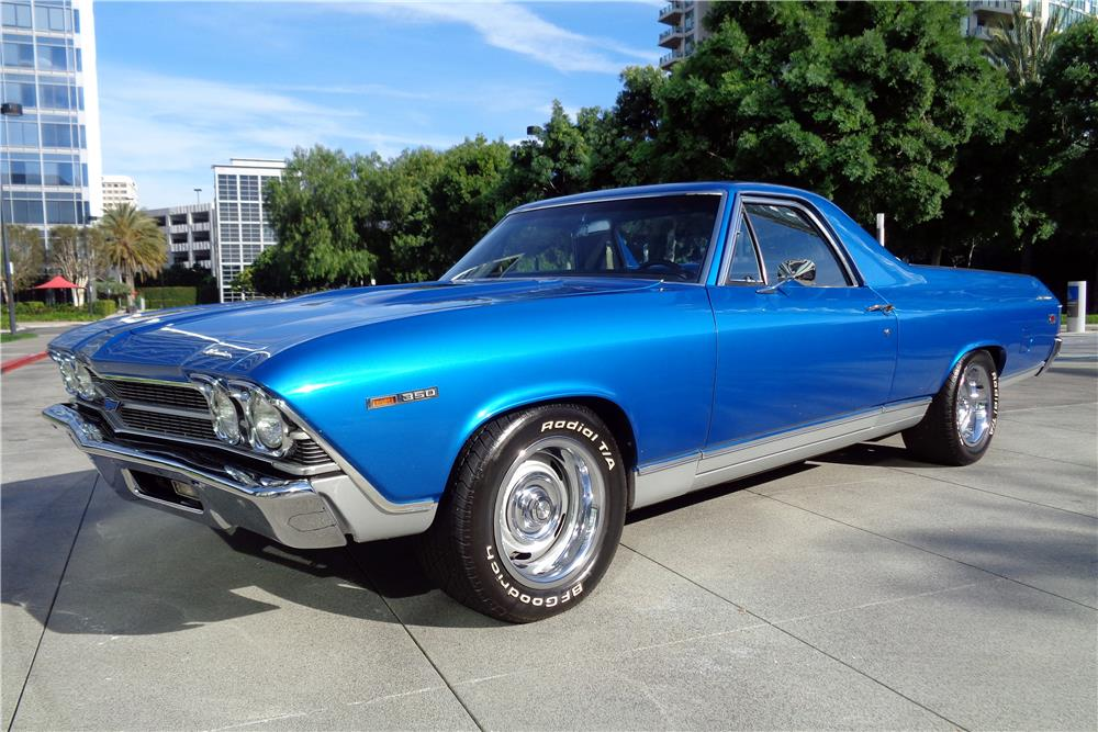 1969 CHEVROLET EL CAMINO PICKUP - Side Profile - 186862