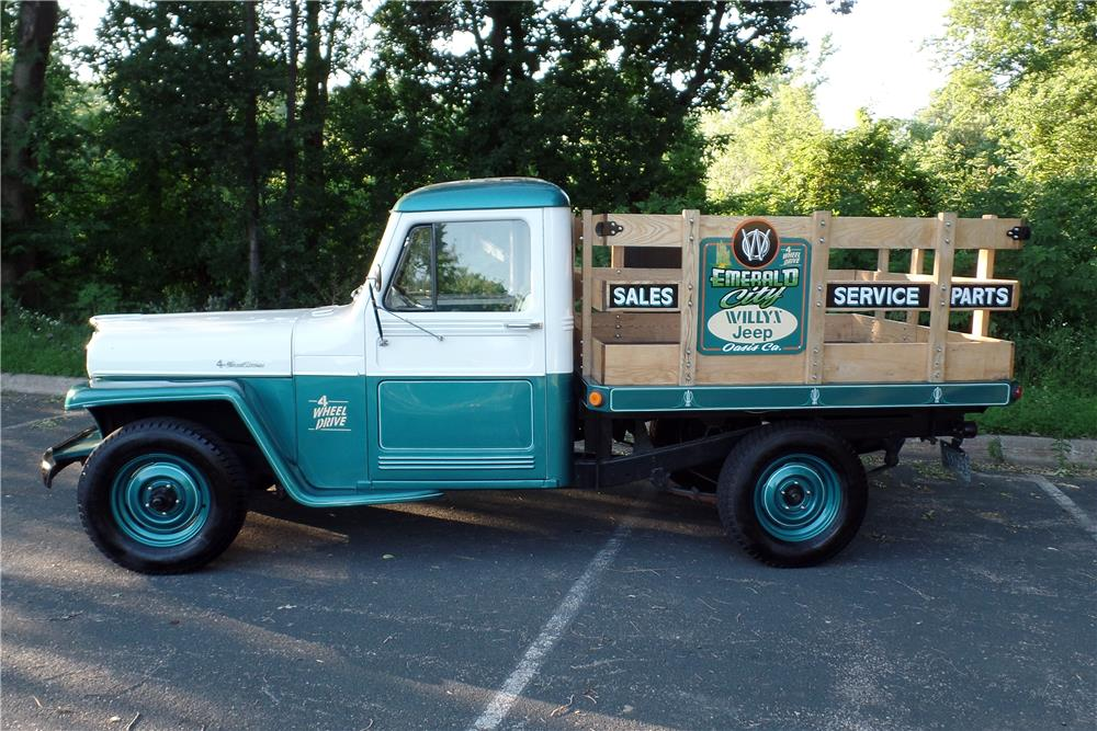 1960 WILLYS STAKE BED - Side Profile - 186878