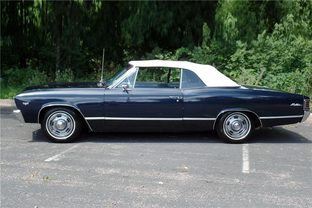 1967 CHEVROLET CHEVELLE MALIBU CONVERTIBLE - Side Profile - 186879