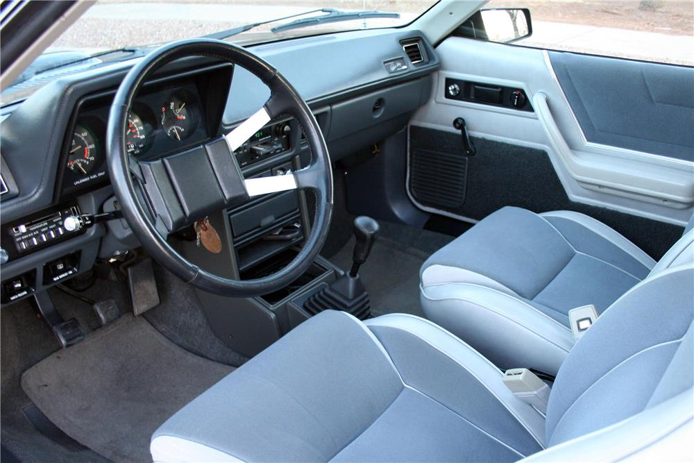 1987 DODGE CHARGER SHELBY  - Interior - 186920