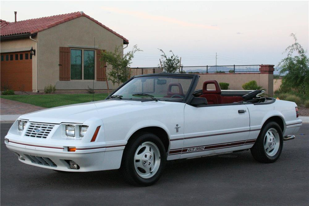 1984 FORD MUSTANG GT CONVERTIBLE - Front 3/4 - 186921