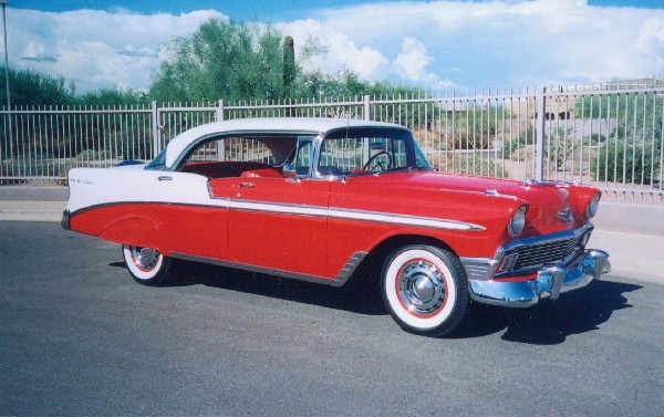 1956 chevrolet bel air 4 door hardtop 18694. Black Bedroom Furniture Sets. Home Design Ideas