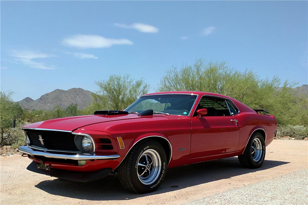 1970 FORD MUSTANG 428 CJ FASTBACK - Front 3/4 - 186948