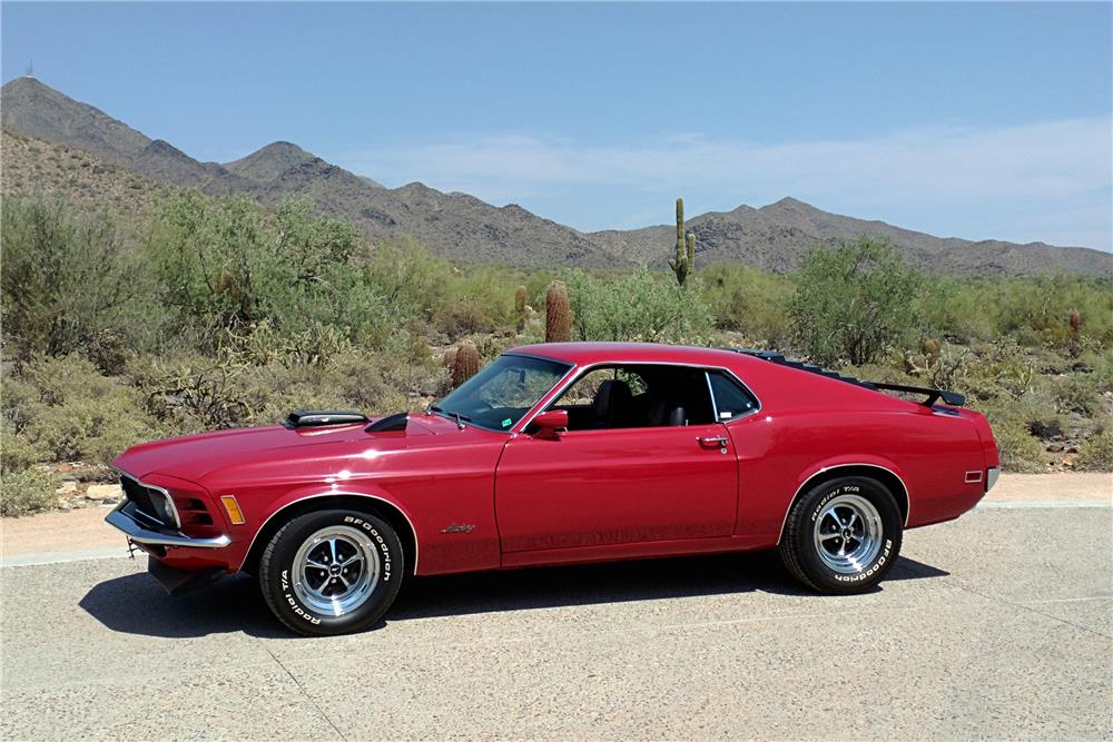 1970 FORD MUSTANG 428 CJ FASTBACK - Side Profile - 186948