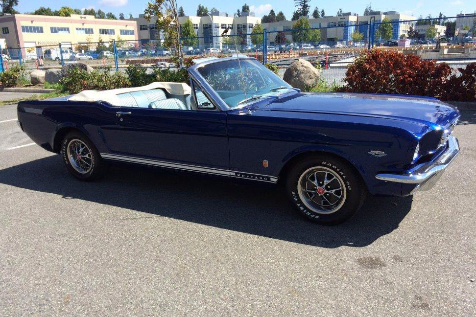 1966 FORD MUSTANG CONVERTIBLE - Front 3/4 - 186962