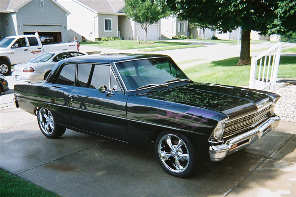 1967 CHEVROLET CHEVY II CUSTOM COUPE - Front 3/4 - 186965