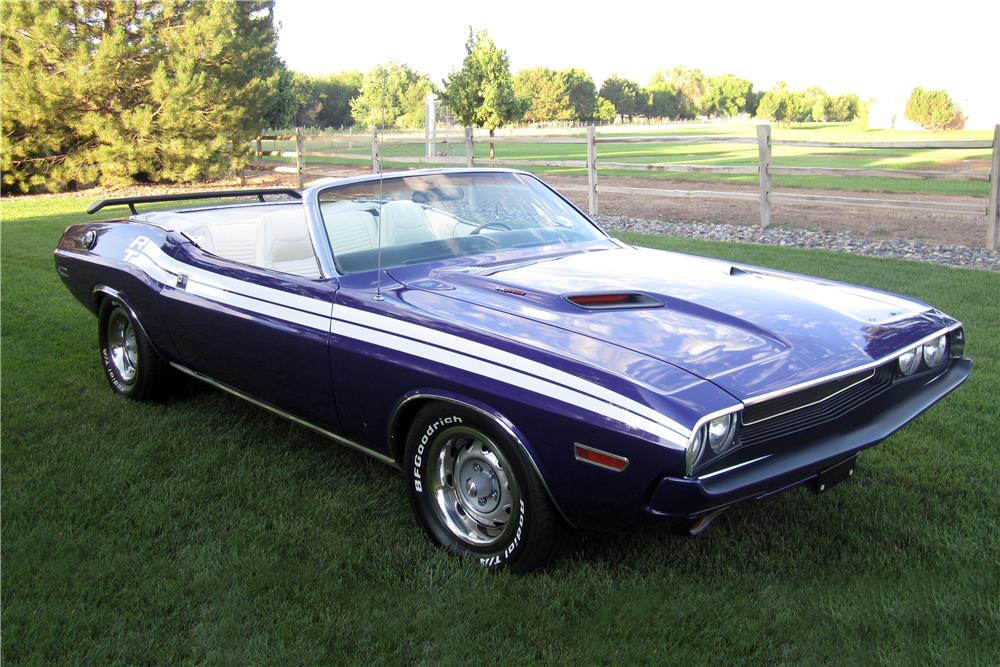 1970 DODGE CHALLENGER CONVERTIBLE - Front 3/4 - 186967