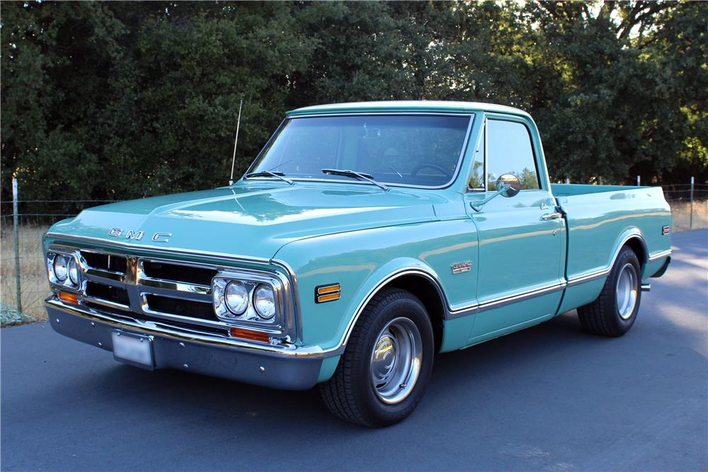 1968 GMC 1500 CUSTOM PICKUP 186983 on custom stereo