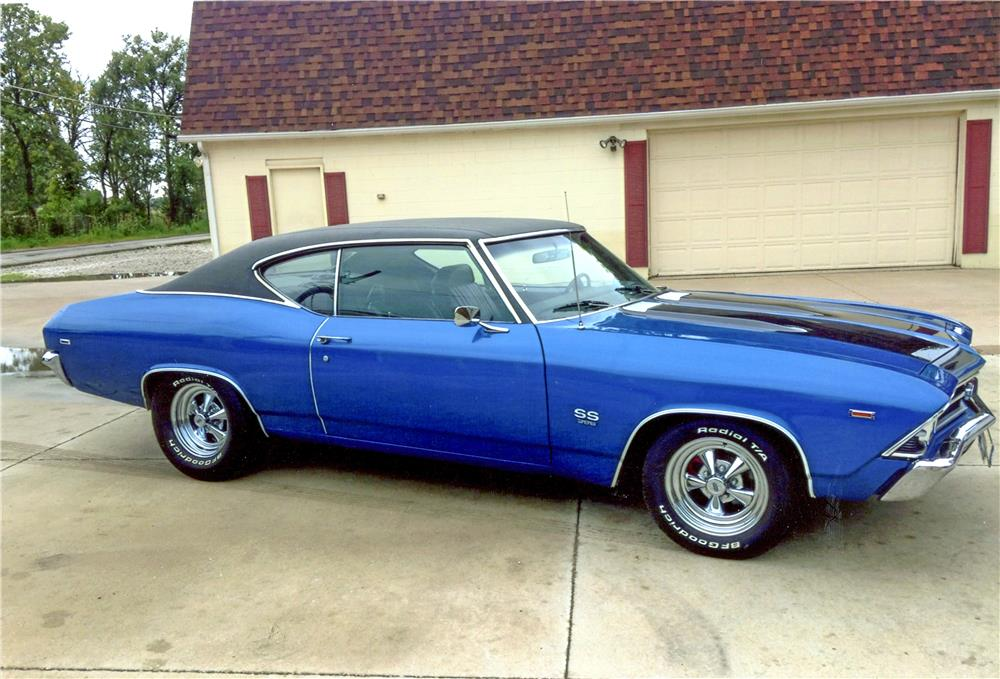1969 CHEVROLET CHEVELLE SS - Side Profile - 187008