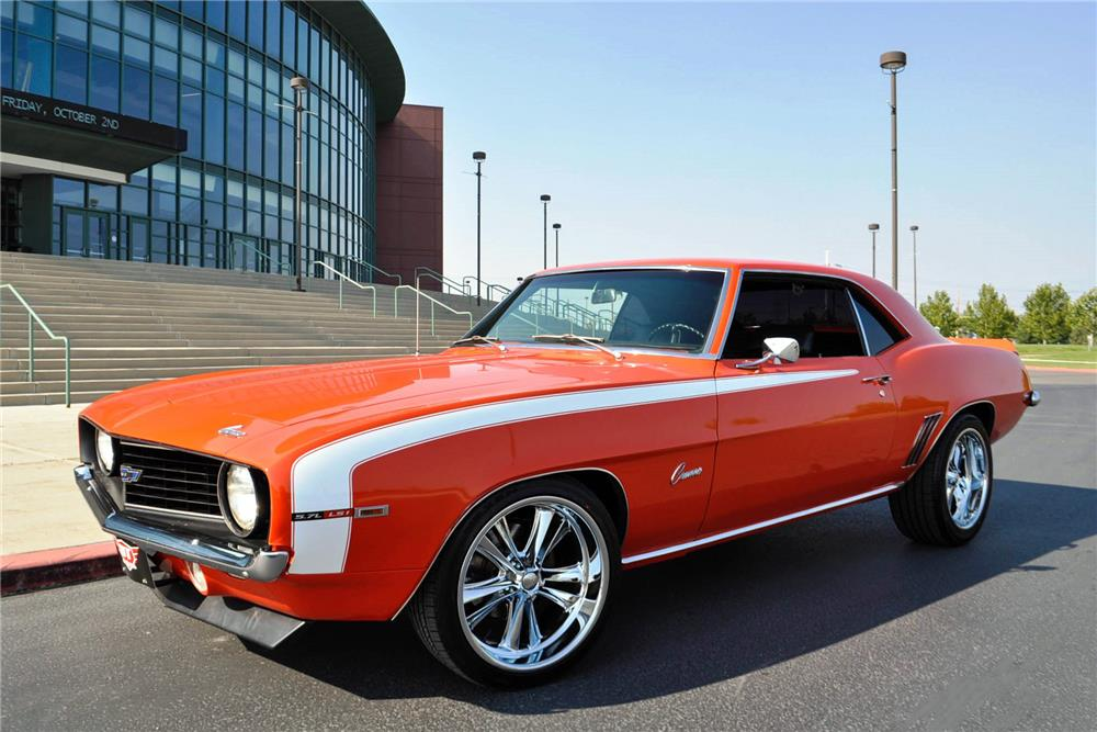 1969 CHEVROLET CAMARO CUSTOM COUPE - Front 3/4 - 187035