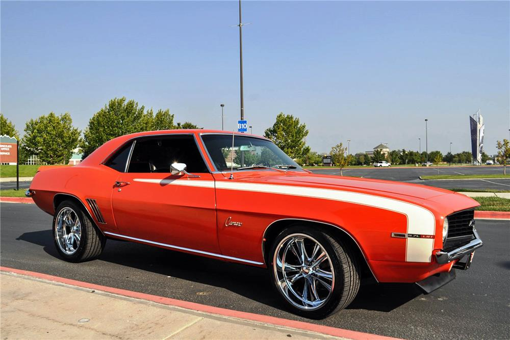 1969 CHEVROLET CAMARO CUSTOM COUPE - Side Profile - 187035