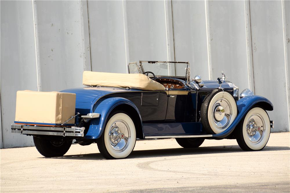 "1929 PACKARD 640 ""STRAIGHT 8"" ROADSTER - Rear 3/4 - 187065"