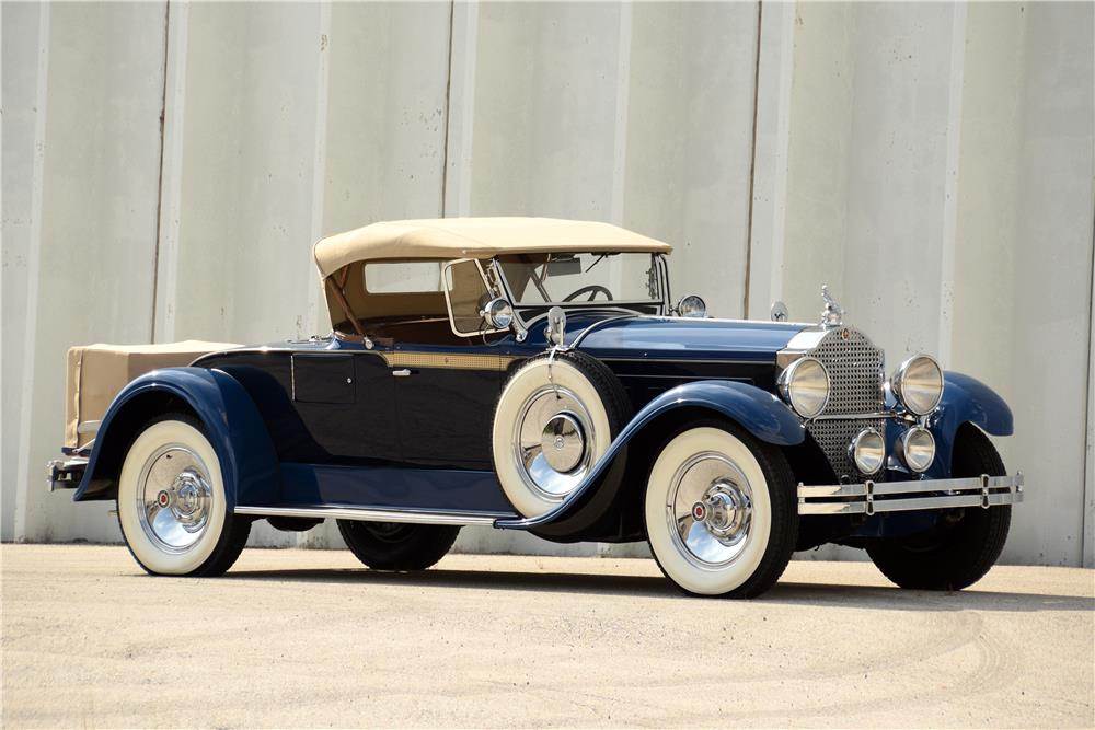 "1929 PACKARD 640 ""STRAIGHT 8"" ROADSTER - Side Profile - 187065"