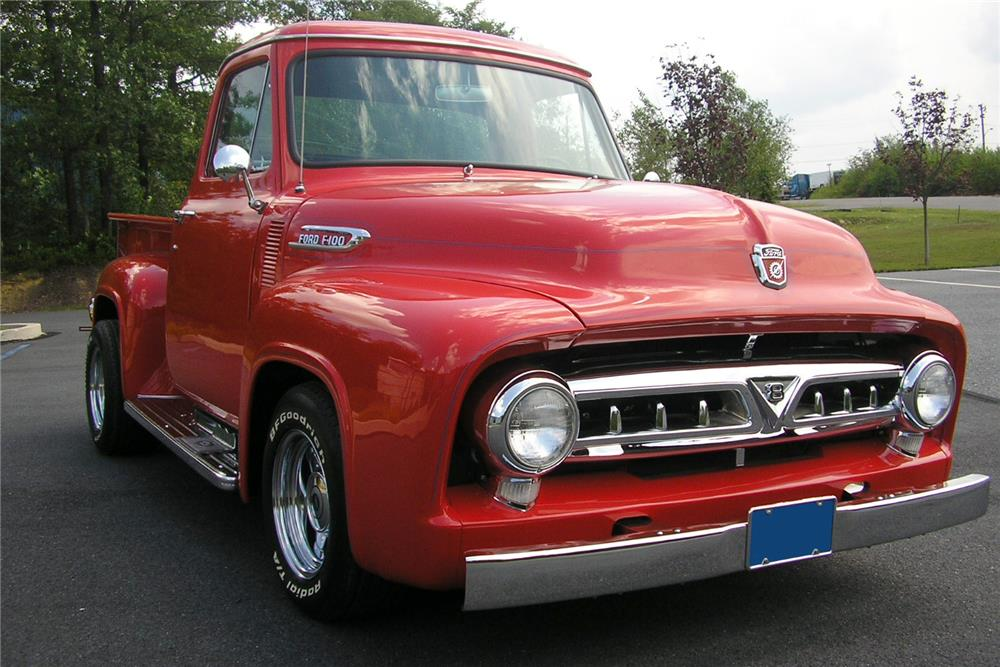 1953 FORD F-100 CUSTOM PICKUP - Front 3/4 - 187070