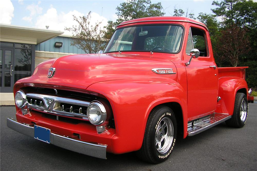 1953 FORD F-100 CUSTOM PICKUP - Side Profile - 187070