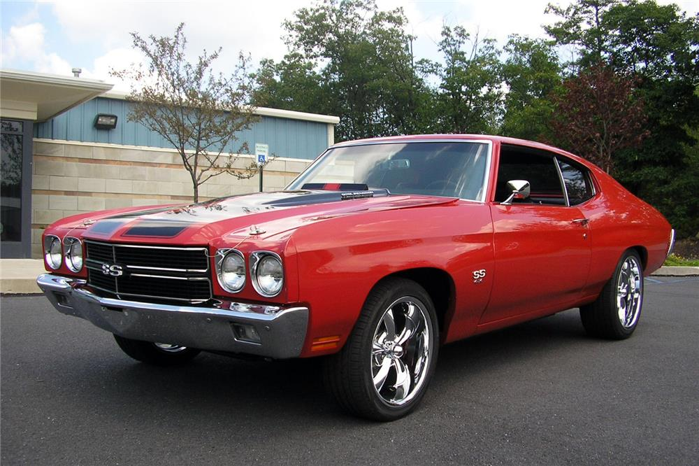 1970 CHEVROLET CHEVELLE CUSTOM COUPE - Front 3/4 - 187072