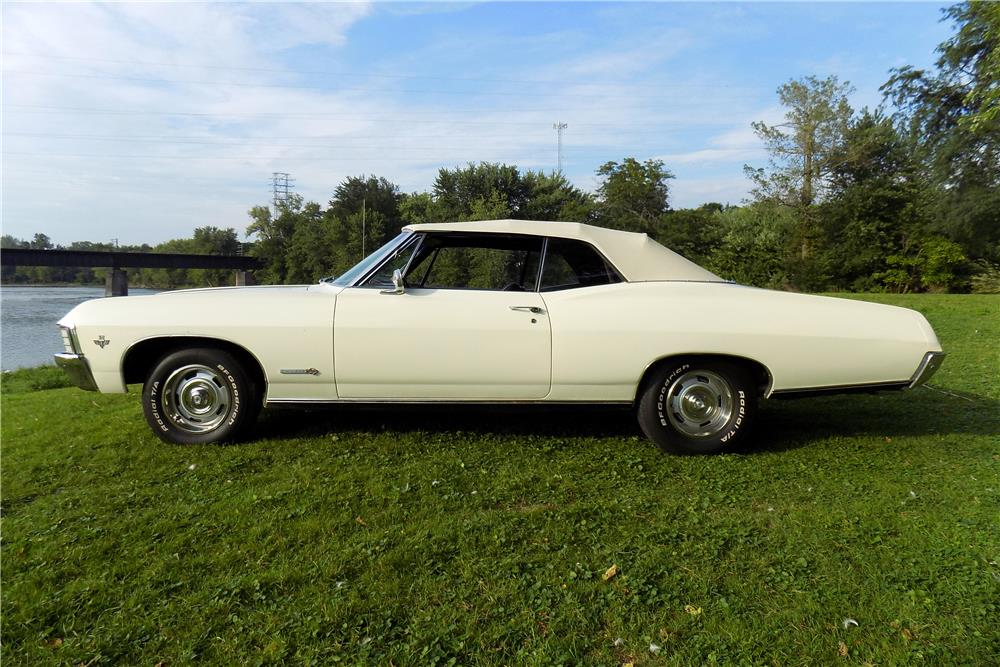 1967 CHEVROLET IMPALA SS CONVERTIBLE - Side Profile - 187077