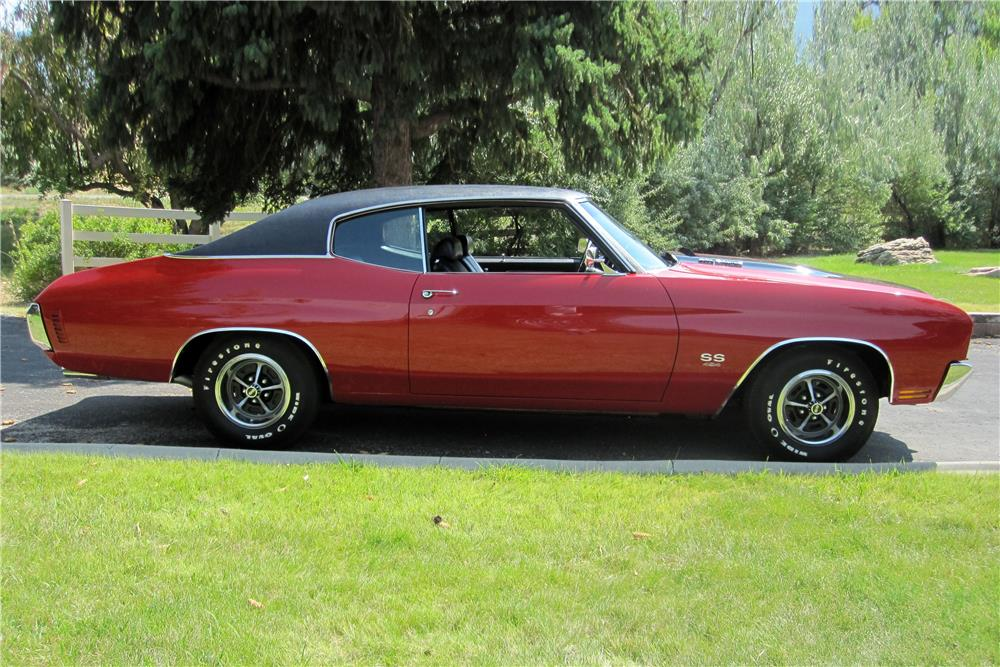 1970 CHEVROLET CHEVELLE LS6 SS  - Side Profile - 187116