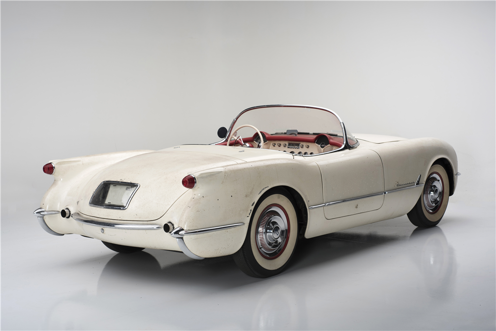 "1954 CHEVROLET ""ENTOMBED"" CORVETTE - Rear 3/4 - 187137"