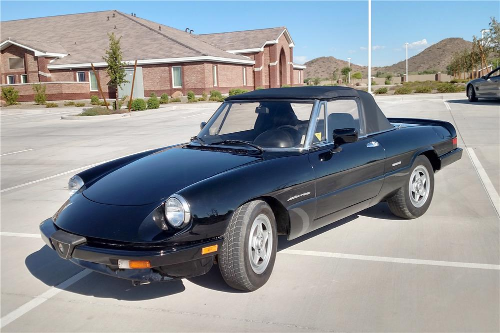 1987 alfa romeo spider veloce convertible 187173. Black Bedroom Furniture Sets. Home Design Ideas