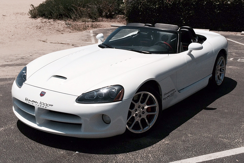 2004 DODGE VIPER CONVERTIBLE HENNESSEY 1000HP TWIN TURBO - Front 3/4 - 187178
