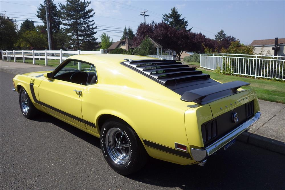 1970 FORD MUSTANG BOSS 302 FASTBACK - Rear 3/4 - 187187