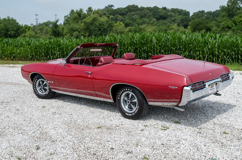 1969 PONTIAC GTO CONVERTIBLE - Rear 3/4 - 187192