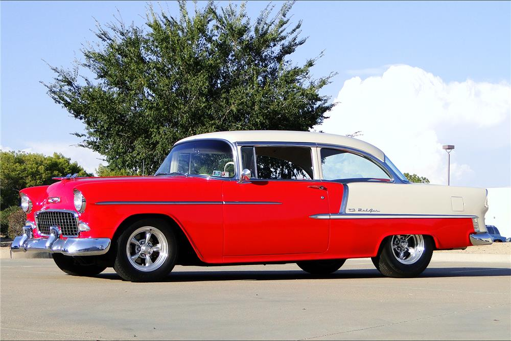 1955 CHEVROLET BEL AIR CUSTOM SEDAN - Front 3/4 - 187197