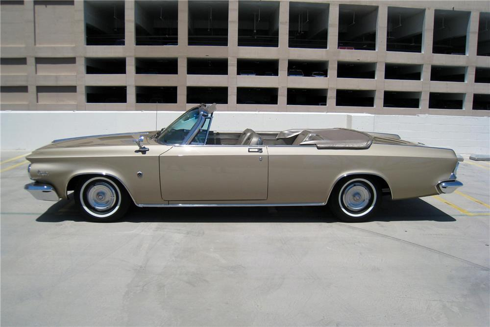 1964 CHRYSLER 300K HI-PO CONVERTIBLE - Side Profile - 187199