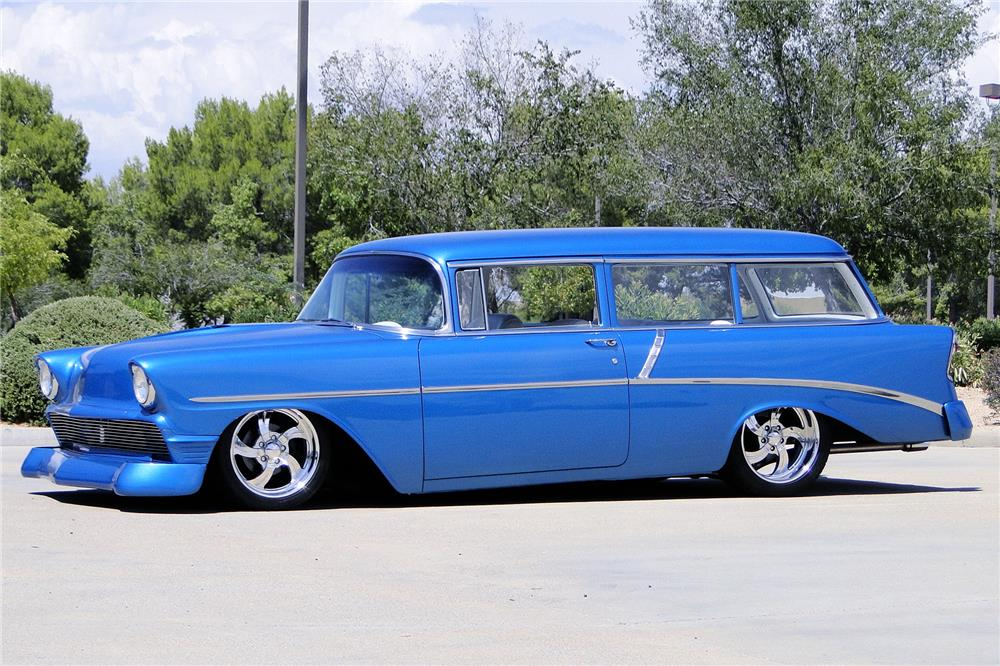 1956 CHEVROLET 210 CUSTOM WAGON - Front 3/4 - 187205