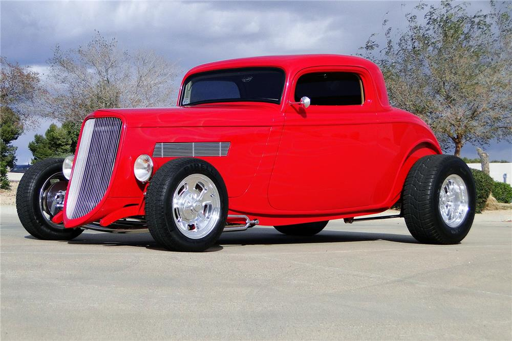 1933 FORD MODEL A CUSTOM COUPE - Front 3/4 - 187207