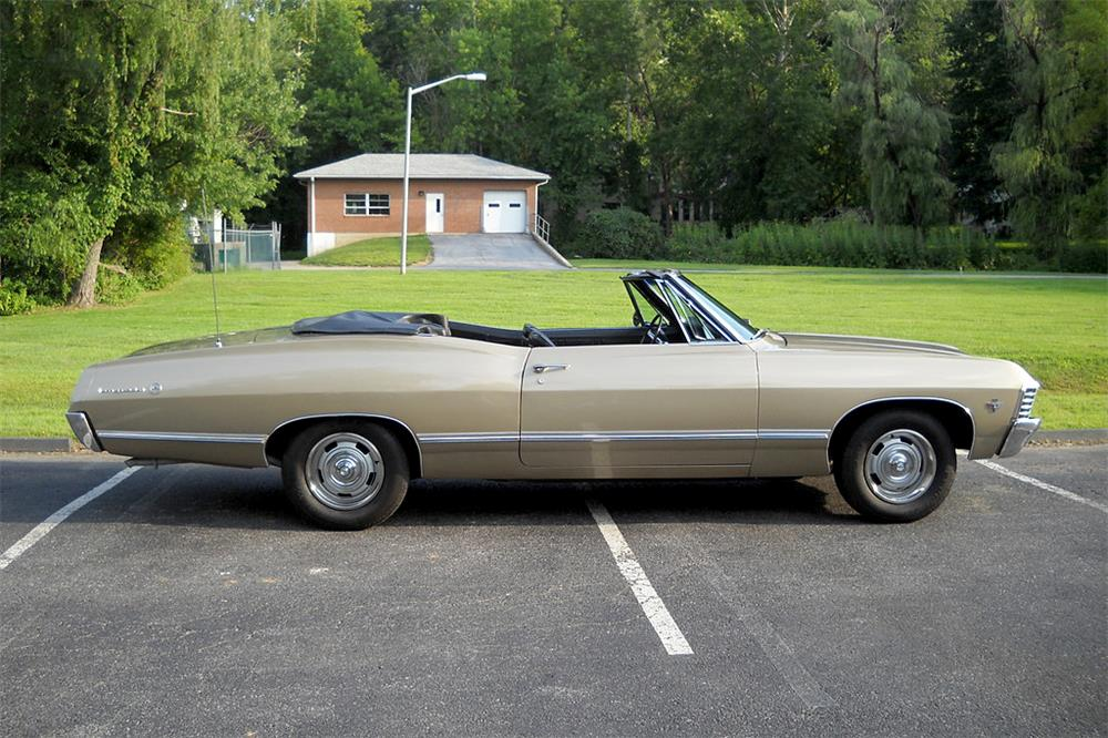 1967 CHEVROLET IMPALA CONVERTIBLE - Side Profile - 187212